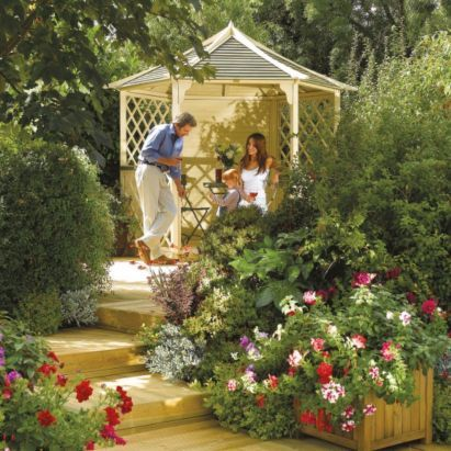 10x8 Gainsborough Wooden Gazebo - Home Delivered, 5013856013365