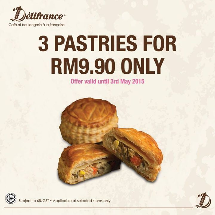 29 Apr-3 May 2015: Delifrance Pastries Promotion