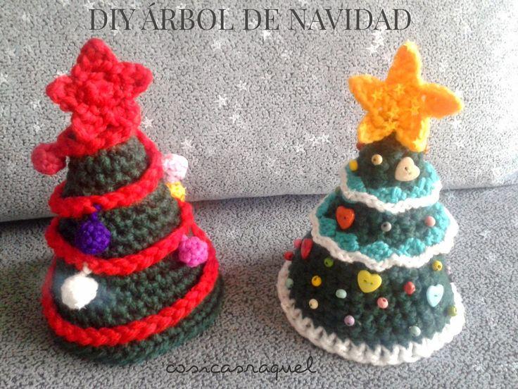 Hola!  hoy os traigo otro tutorial de Navidad , esta vez para hacer estos arboles de crochet que tanto me habeis pedido!           Para hace...