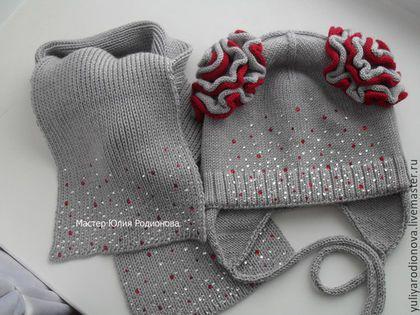 Шапки и шарфы ручной работы. Зимняя мериносовая шапочка. Юлия (yuliyarodionova)…