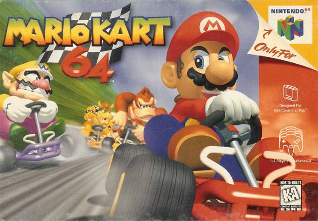 Mario Kart 64. I used to play this game for hours with friends and family. I still own this game today.