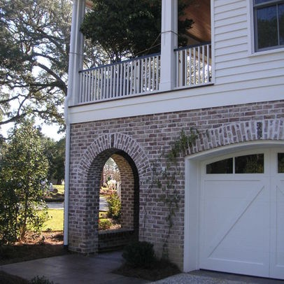 Whitewash Red Brick Siding Home Building Ideas