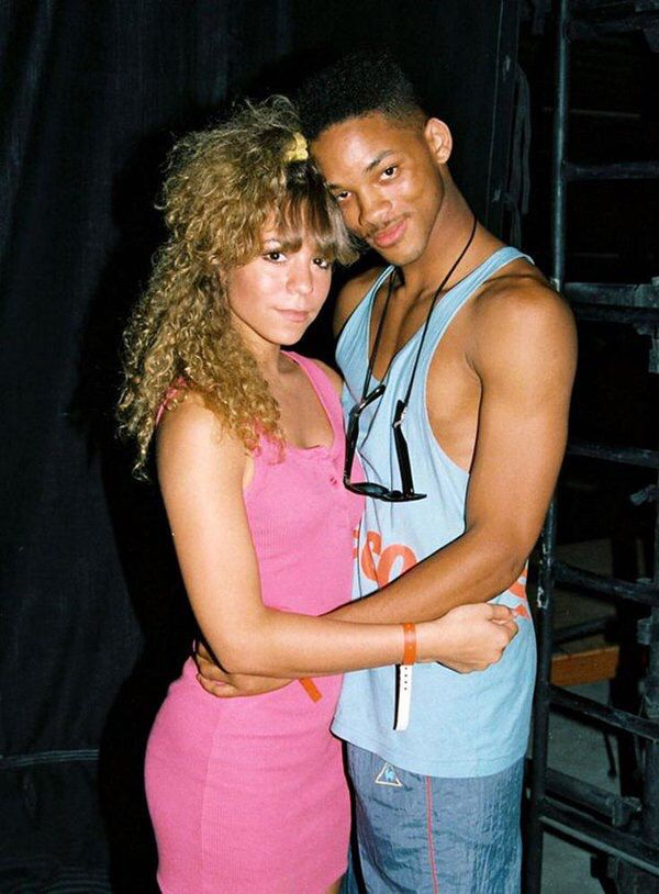 Mariah Carey aged 18 at a music festival with Will Smith aged 19