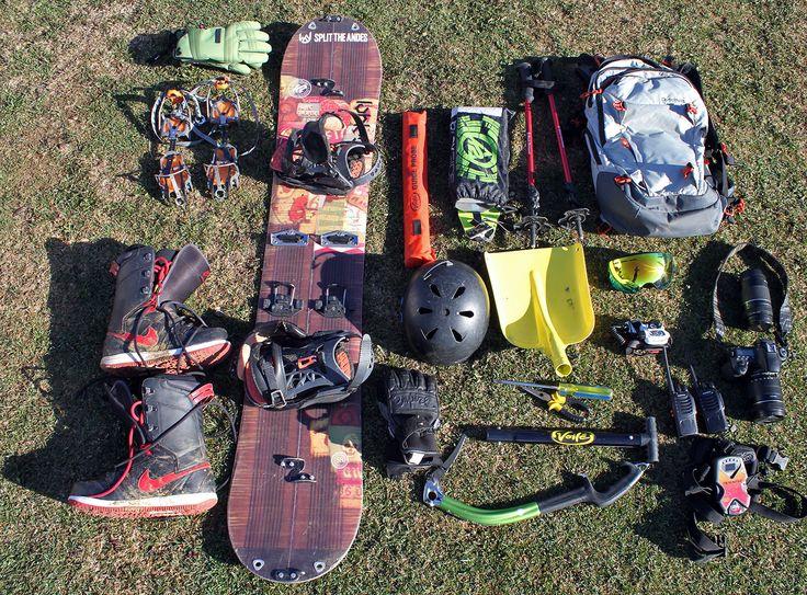 setup 1 day pack #splitboarding #splitboard #safetyfirst #outdoors