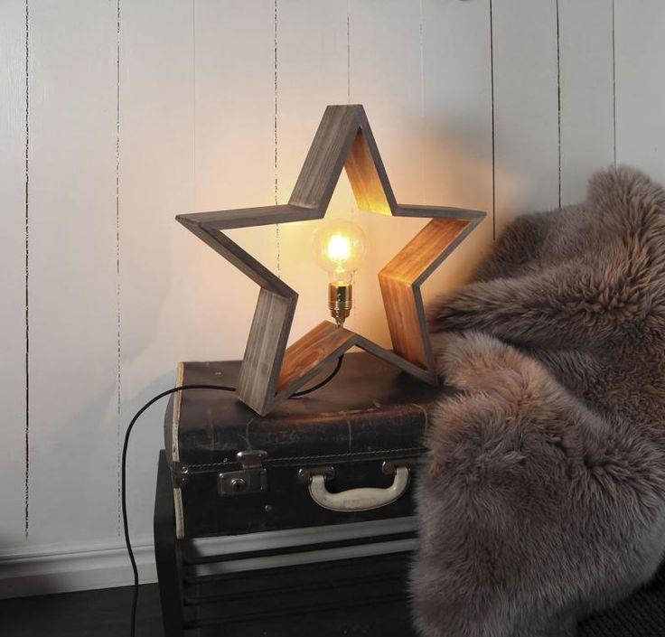 Julstjärna - adventsstjärna i trä - stjärna för advent