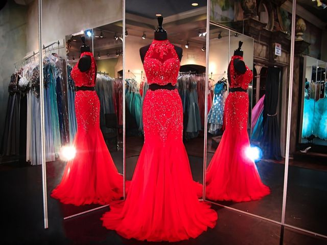 Red 2 Piece Prom Dresses 2016 Halter Long Fitted Red Mermaid Pageant Gowns for Teens