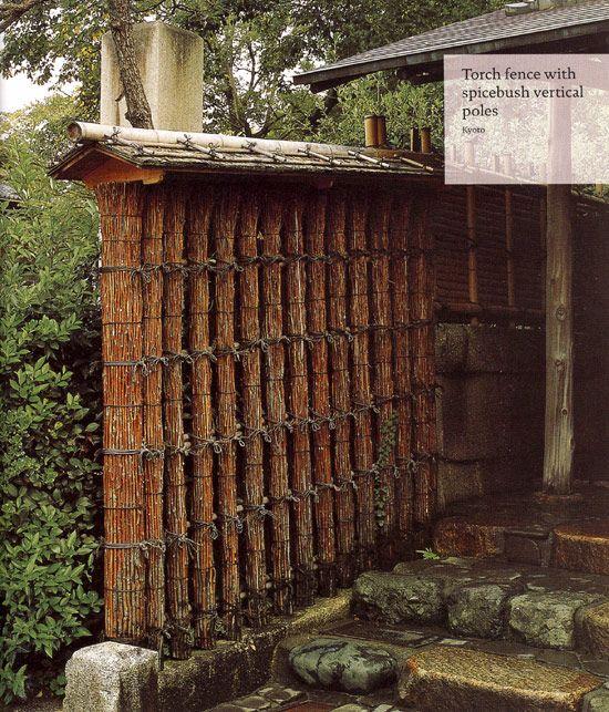 Japanese Garden Fence Design elegant grey floor for nice landscaping ideas with vertical bamboo japanese fence design Torch Fence Taimatsu Gaki A Piece Of Bamboo Fence With Vertical Pieces