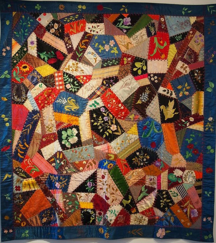 Crazy Quilt Pattern Fabric : 214 best images about Crazy quilts on Pinterest Quilt, Antiques and Vintage quilts