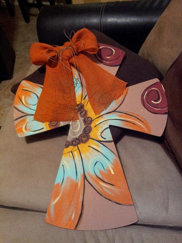 Best 25 painted wooden crosses ideas on pinterest hand for Wood craft painting ideas