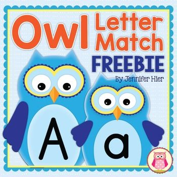 Owls ABC and fall fun for your preschool, pre-k, or kindergarten class!  A great way to introduce letters at the beginning of the year.Students will practice letter recognition and will have an opportunity to explore phonemic awareness as they play this cute letter match game.