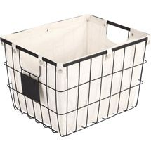Walmart: Better Homes and Gardens Medium Wire Basket with Chalkboard, Black - for Expedit storage of toys