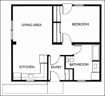 300 best images about tiny home plans on pinterest cabin 1 bedroom single wide trailer floor plans 14' Travel Trailer Floor Plans
