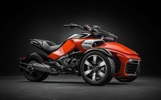 Can-Am Spyder F3-S, 2015, motocyclette à trois roues, studio