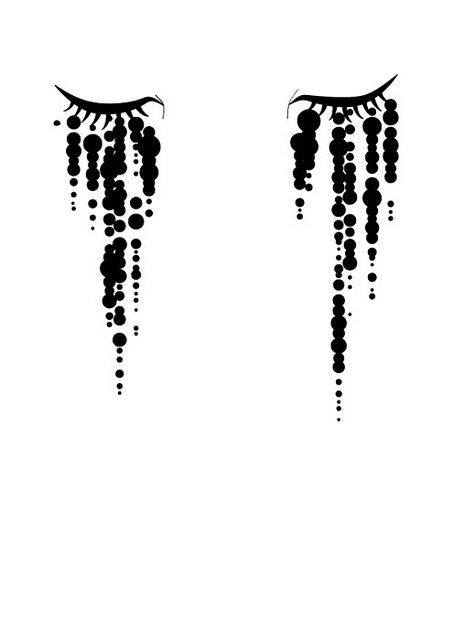 Image result for eye crying line drawing tattoo