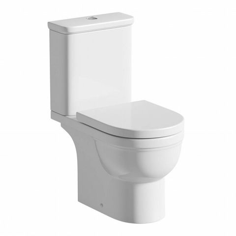 Deco close coupled toilet with soft close toilet seat | VictoriaPlum.com