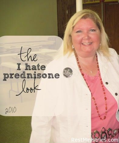 THIS IS A GREAT VIDEO ABOUT THE SIDE EFFECTS OF PREDNISONE. Lisa shares how she learned to laugh at herself and her circumstances, despite the weight gain. She didn't want to allow her body to stop her from doing what God had planned.