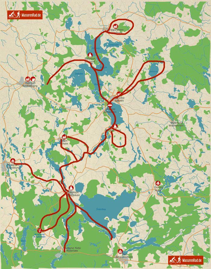 Karte von Masuren (mit Steinort)