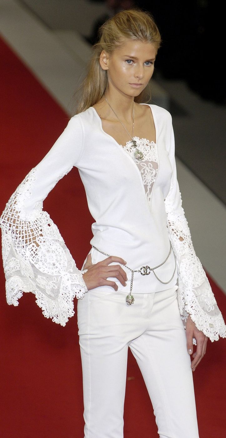 Chanel #shirt and trousers #white #lace #ready to wear #day outfit