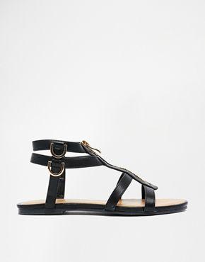 Увеличить Черные сандалии с молнией спереди Daisy Street