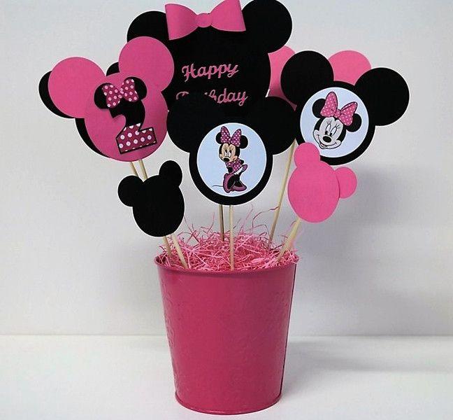 Decorazioni - Minnie decorazione Tavolo Festa  Compleanno  - un prodotto unico di PaperLoveFantasy su DaWanda