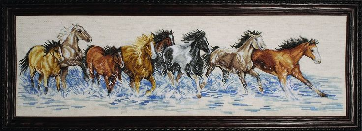 Splashdown Horses. Counted Cross Stitch by Design Works.