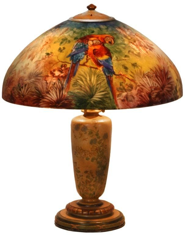 96 handel junglebird table lamp on
