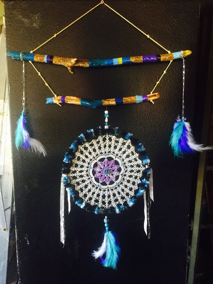 Handmade and crafted by me   Doilie dreamcatcher ...  Can make to order