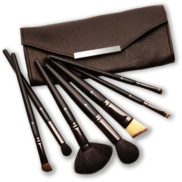 BORGHESE 7-Piece Professional Select Cosmetic Face & Eye Brushes ($20) ❤ liked on Polyvore featuring beauty products, makeup, makeup tools, makeup brushes, beauty, angled eyeshadow brush, angled makeup brush, angled shadow brush, eyeshadow brush y foundation brush