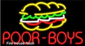 If you serve submarine sandwiches in Louisiana you will want this Poor Boy neon sign to promote your traditional Po