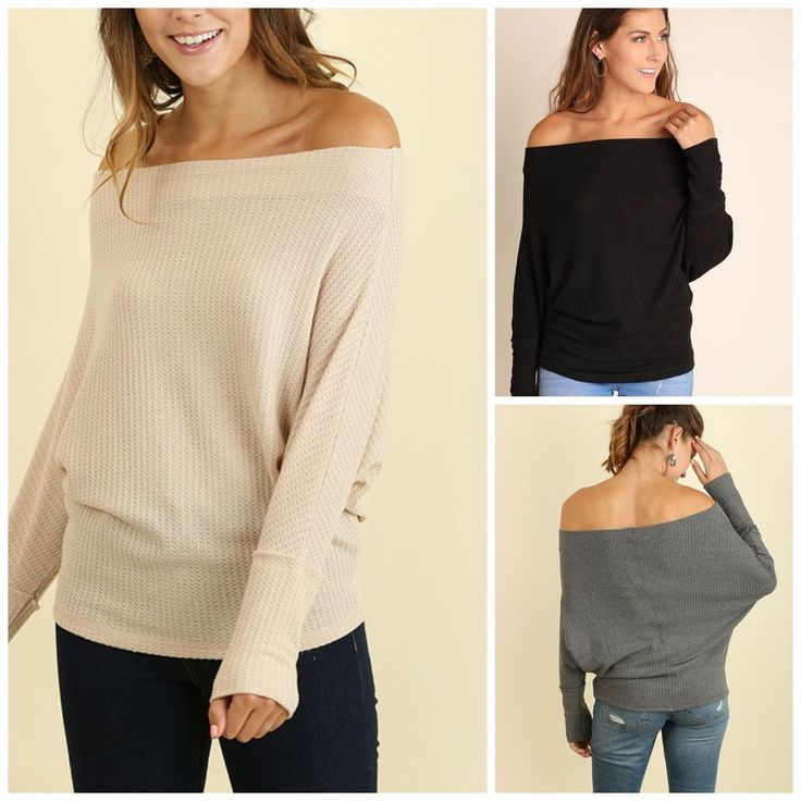 Umgee Womens Layered Ruffle Bell Sleeve Knit Top with Lace Up Neckline