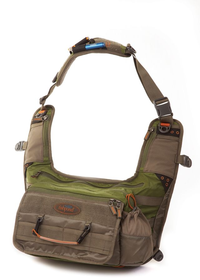 Fishpond Delta Sling Pack, built for comfort and accessibility!   With its unique design the Fishpond Delta Sling Pack is an excellent streamside option. Throw it over either shoulder and revel in its roomy storage pockets! Featuring two large zippered pockets can carry rain gear, lunch, fly boxes, and sun screen. It also boasts an interior zippered pocket holster for a gun, perfect for when you��re bushwacking solo in the Alaskan wilderness.    FAST and FREE shipping on all US orders over…
