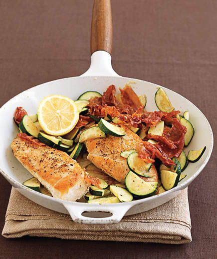 Chicken, Zucchini, and Prosciutto | Need some quick dinner ideas? Try one of these speedy recipes that take just 15 minutes or less of hands-on work.