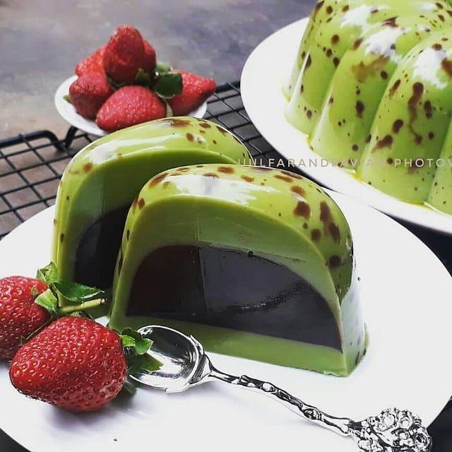 Green Tea Chocolate Puding By Uulfarandfavian Bahan Chocolate Pudding Makanan Penutup Puding Coklat Makanan