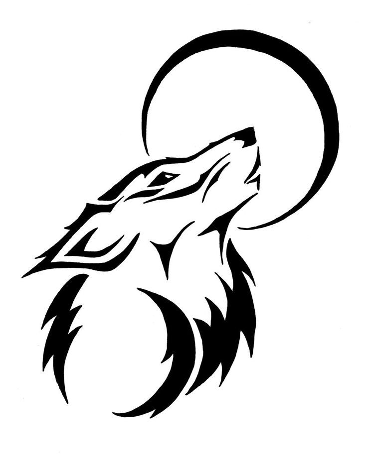 Wolf Line Drawing Tattoo : Best tribal wolf ideas on pinterest