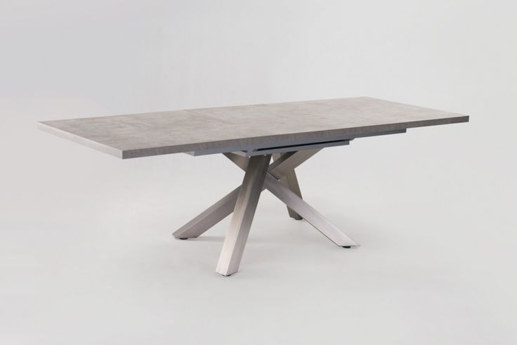 Modrest Orson Contemporary Concrete Extendable Dining Table VGJCJA1342-GN - Pearl Igloo - 1