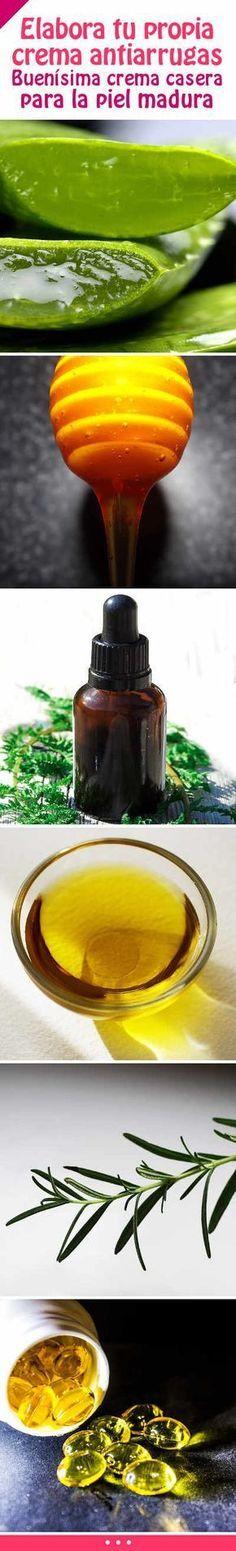 Elabora tu propia crema antiarrugas. Buenísima crema casera para la piel madura.