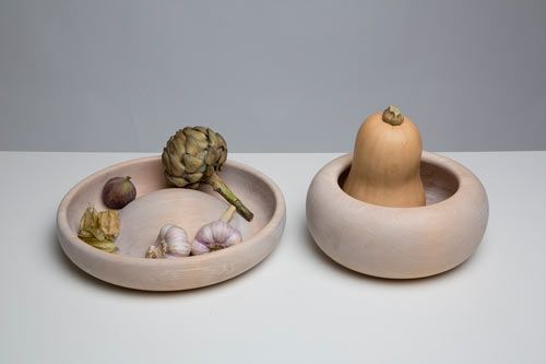 Kristine Five Melvær recently exhibited tableware at Food Work, an exhibition initiated by Torbjørn Anderssen and Espen Voll that features 21 designs by eight Norwegian designers, shown during Designtide Tokyo 2012. These  objects are part of her Still Life project, in which she reinterprets traditional still life motives.