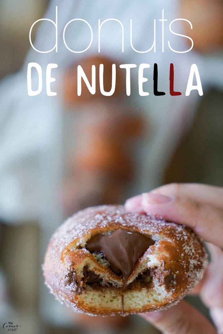 Donuts de Nutella | http://www.vaicomeroque.com.br/donuts-de-nutella/