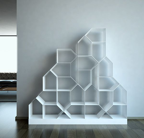 Citybook is a modular bookcase.