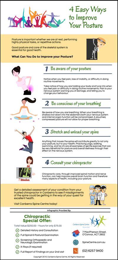4 Easy Ways to Improve Your Posture www.spinecentre.com.au