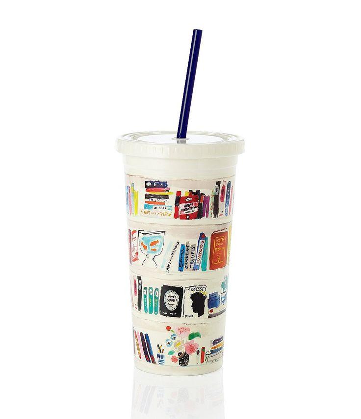 kate spade new york Bella Bookshelf Tumbler with Straw