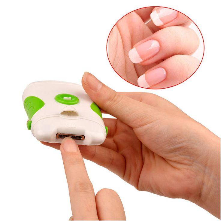 Lima uñas eléctrica. Lima eléctrica para suavizar y reparar las uñas de manera rápida y fácil. Como resultado? Uñas perfectas. Funciona con pilas
