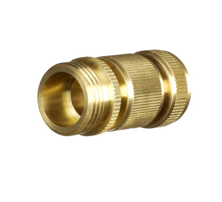 GORILLA EASY CONNECT 3/4u201d NPT Brass Quick Connect Garden Hose Fitting 2pc  Set
