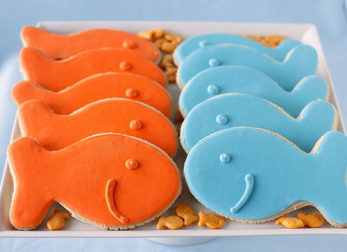 Goldfish cookies (cutter is the goldfish cracker holder!!!)