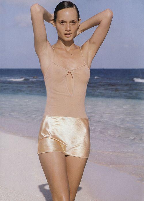 Amber Valletta in Vogue, 1994. Photo: Herb Ritts.