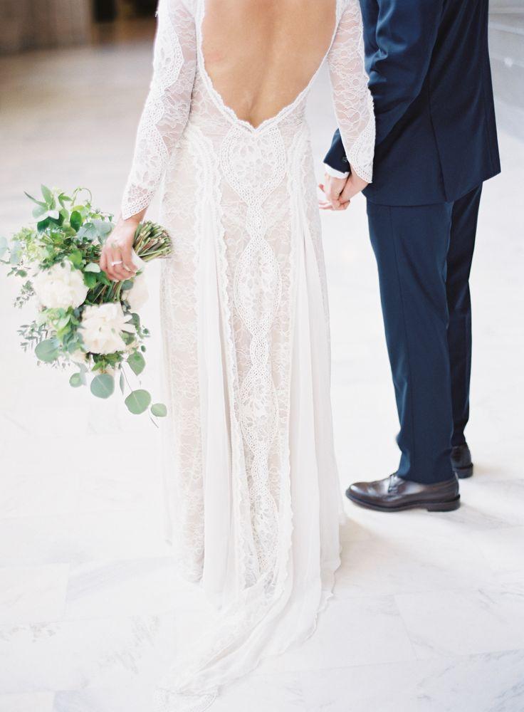 Photography: Esmeralda Franco  - esmeraldafranco.com/   Read More on SMP: http://www.stylemepretty.com/california-weddings/2016/07/01/all-the-reason-to-get-married-at-city-hall/