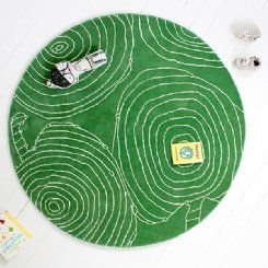 Little P Apple Green Apple Rug