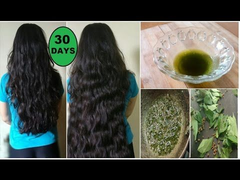 Homemade Curry Leaves Oil to Grow Long Thick Hair fast with Fenugreek Seeds & Coconut Oil - YouTube