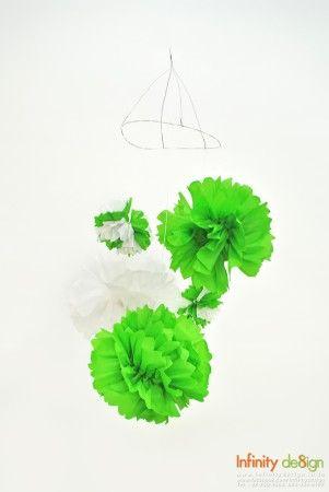 DIY โมบายดอกไม้สวยจากกระดาษย่น ของแต่งบ้านสวยๆ ที่ใครๆ ก็ทำได้ http://www.infinitydesign.in.th/?p=48140