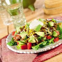Low carb taco salad. Not that you need a recipe but since we eat this on a regular rotation, I thought I'd include for dinner inspiration.